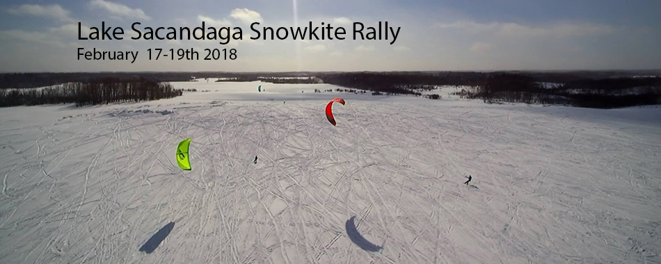 Lake Sacandaga Snowkite Rally 2018